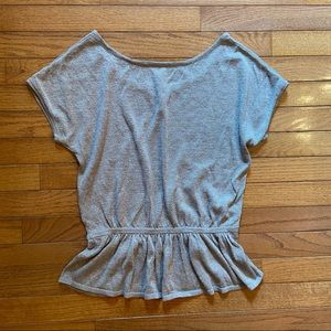Express Sparkle Lightweight Sweater w/ Peplum